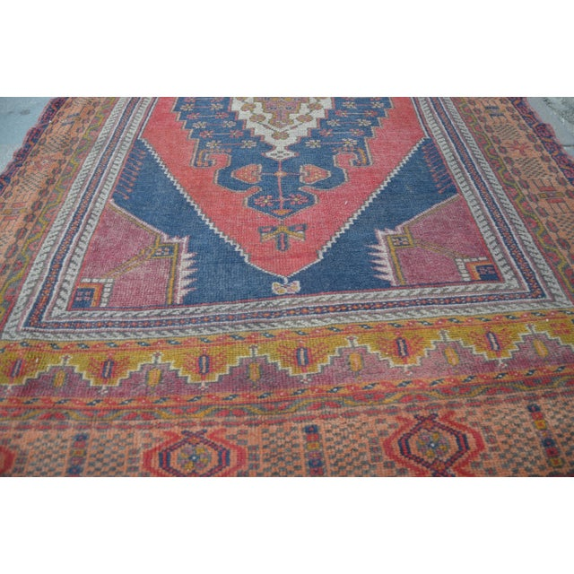 Vintage Turkish Oushak Carpet - 4′5″ × 8′ - Image 4 of 6