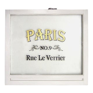 "Vintage ""Paris"" Window Pane"