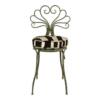 French Style Zebra Hide Garden Chair