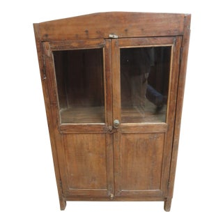 Antique Primitive China Cabinet Cupboard