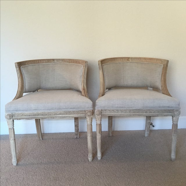 Image of Swedish Occasional Chairs - Pair