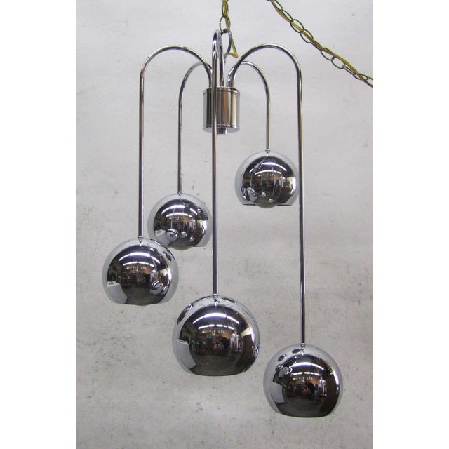 Five-Tier Chrome Pendant Lamp By Robert Sonneman - Image 2 of 6