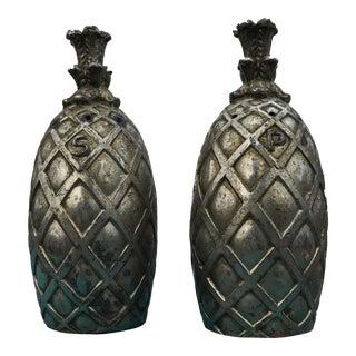 Vintage Pineapple Salt & Pepper Shakers - a Pair