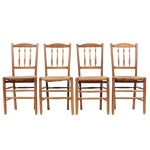 Image of Country French 1940s Rush Chairs - Set of 4