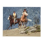 Image of Harry Schaare Lithograph - Cowboys Racing