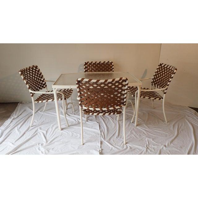 Tropitone Brown & White Outdoor Patio Set - Set of 5 - Image 3 of 11