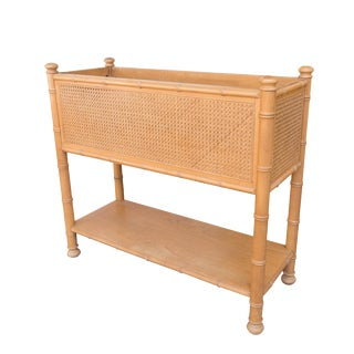Standing Caned Planter Box