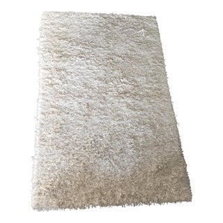 Cream Wool Shag Rug- 5′1″ × 8′3″