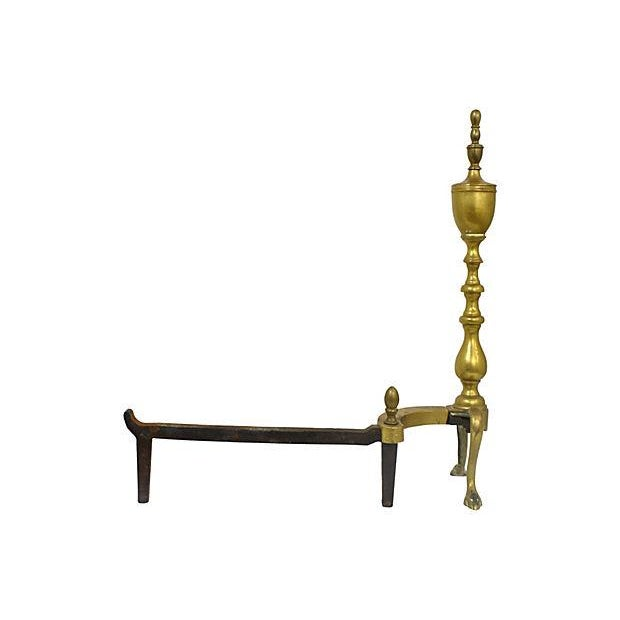 Image of Brass Andirons - A Pair