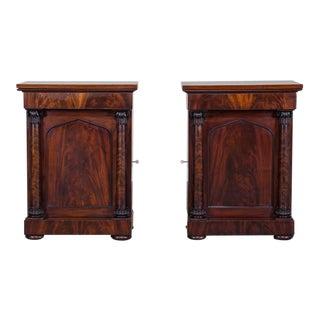 Pair Antique English Neoclassical Mahogany Cabinets William IV circa 1835