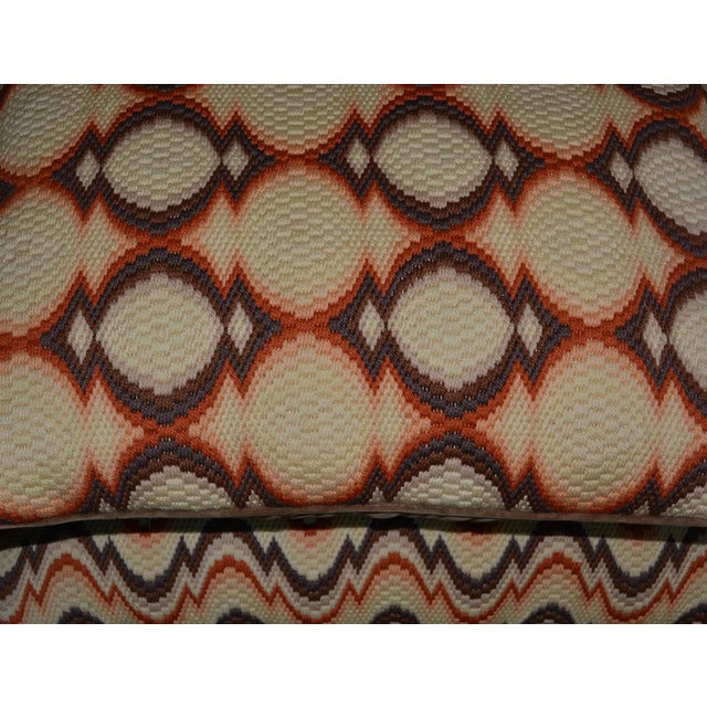 1970s Needlepoint Geometric Pillows - a Pair - Image 3 of 7