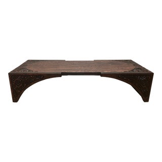 Vintage Witco Brutalist Modern Redwood Coffee Table