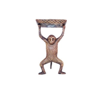 Vintage Brass Monkey Business Card Holder