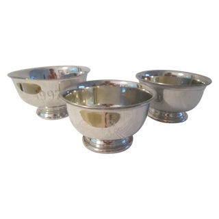 Pewter Engraved Bowls - Set of 3