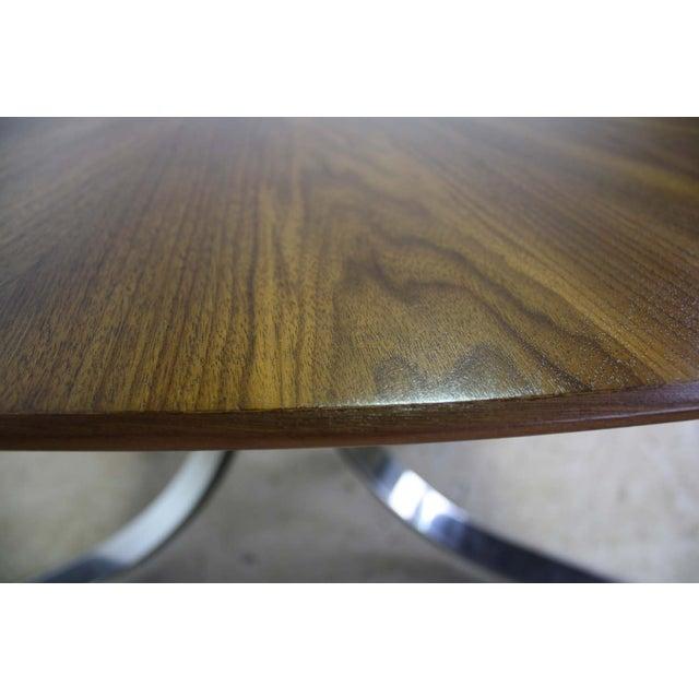Image of Borsani Dining Table W/Starburst Pattern Wood Top