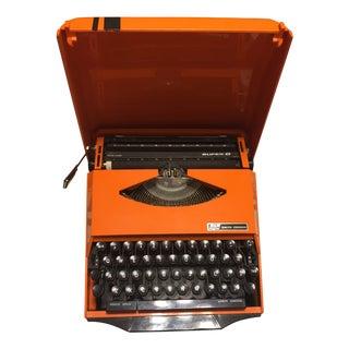 Smith Corona Rare Orange Ghia Typewriter