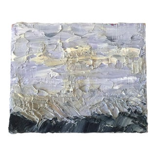 Stormy Sky & Rocky Coast Textured Oil Painting