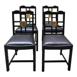 Art Deco Kitchenette Chairs - Set of 4