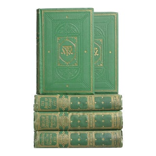 Antique Green Book Set: William Thackeray, S/5