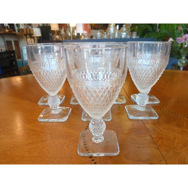 Pressed Glass Footed Goblets - Set of 8 - Image 7 of 8