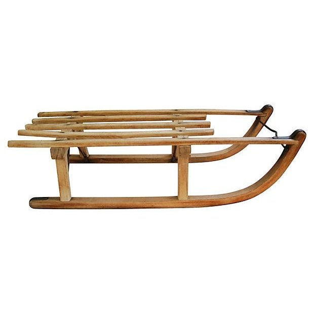 Antique Early 1900s Child's Snow Sled - Image 2 of 7