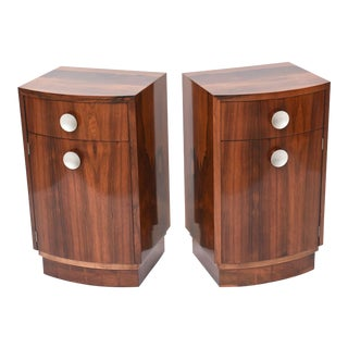 """Pair of American Late Art Deco """"Paldao"""" Bedside Cabinets, Gilbert Rohde"""