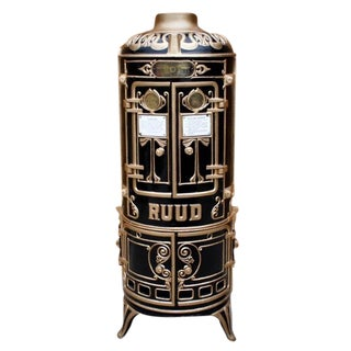 Antique Bar Cabinet with Water Heater Ruud