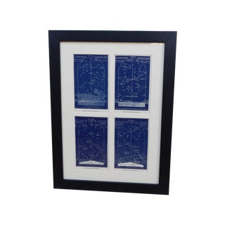 Framed Antique Night Star Maps