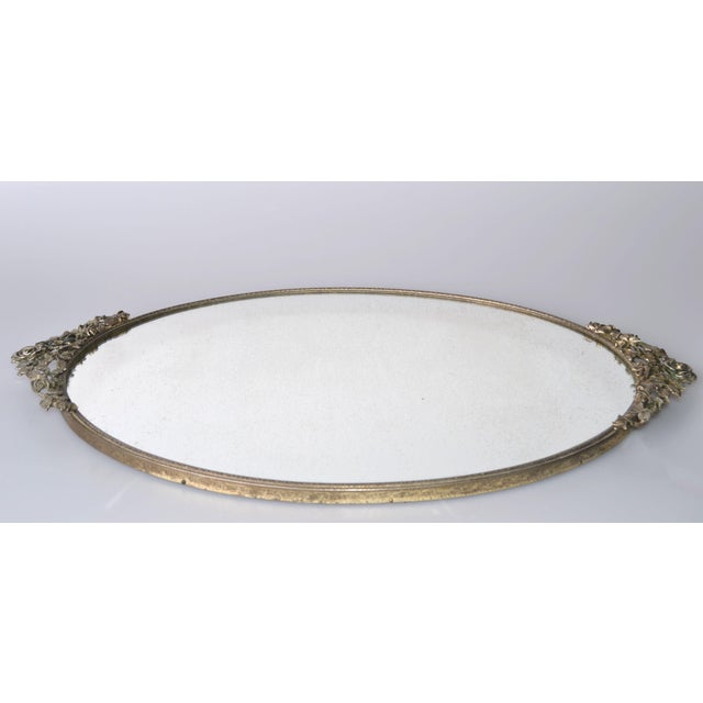 Art Deco Pewter Mirrored Tray - Image 3 of 9