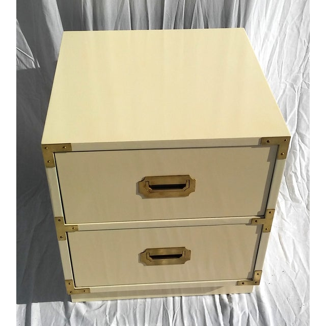Image of Lacquered Bernhardt Campaign Nightstand/Side Table