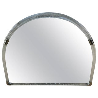 Large Venini Opaque Glass Semi-Circle Wall Mirror