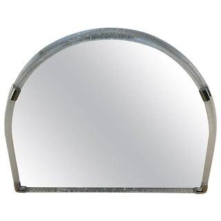 Large Venini Opaque Glass Semi-Circle Wall Mirror