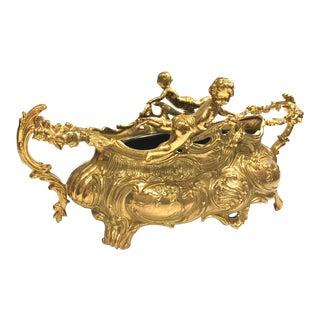 Italian Gold Jardinière Planter Cachepot Centerpiece - a Pair