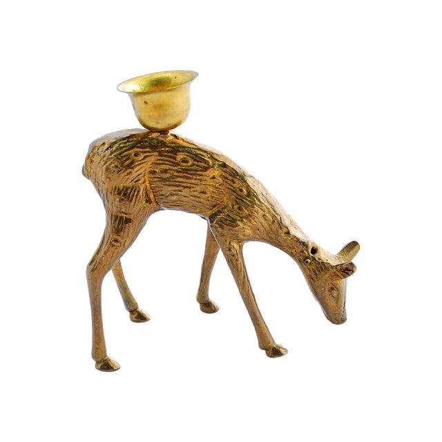 Image of Brass Deer Candle Holder