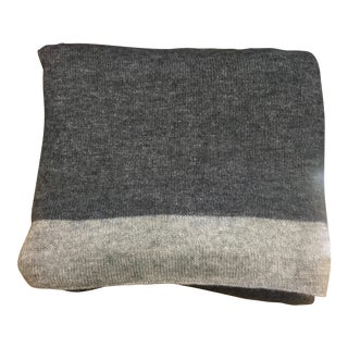 Charcoal Gray Cashmere Throw