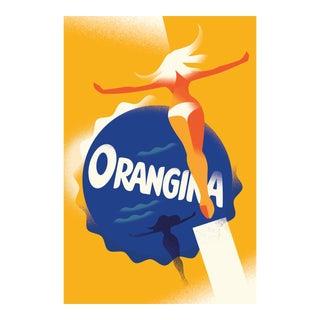 Minimalist Danish Modern Poster, Orangina
