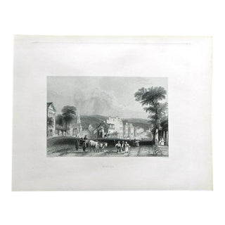 """1883 Antique Print """"Utica"""""""