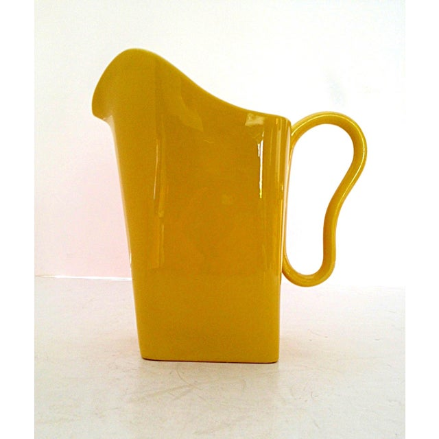 Franciscan Yellow Pitcher and Cup Set - Image 7 of 9
