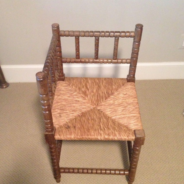 Corner Cane Spool Chair - Image 2 of 7