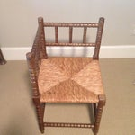 Image of Corner Cane Spool Chair