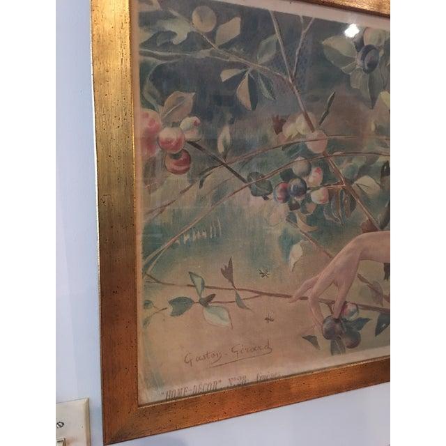 Art Nouveau 'Lady & Flowers' Poster - Image 9 of 10