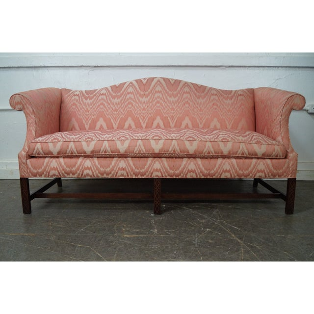 Southwood Mahogany Chippendale Style Flame Stitch Sofa - Image 2 of 10