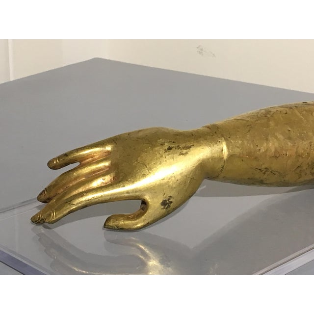 Tibetan Gilt Bronze Arm of the Buddha, early 19th century - Image 9 of 10