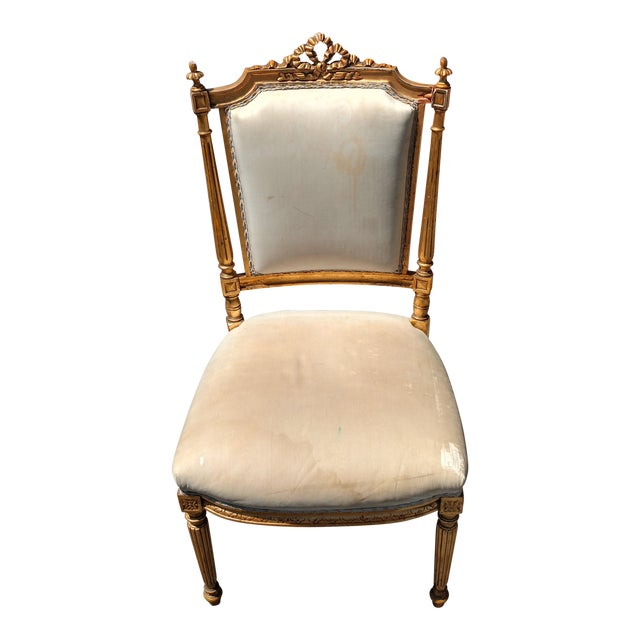 French Giltwood Accent chair - Image 1 of 6