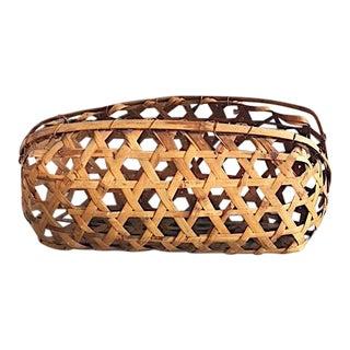 Oblong Vintage Tobacco Basket