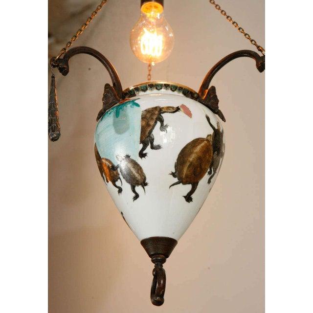 European Japanese Style Porcelain Pendant - Image 5 of 10
