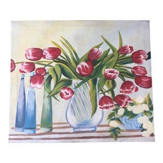 Mid-Century Tulips Still Life Painting