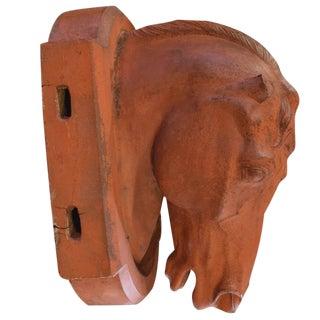 American Terra Cotta Horse Head