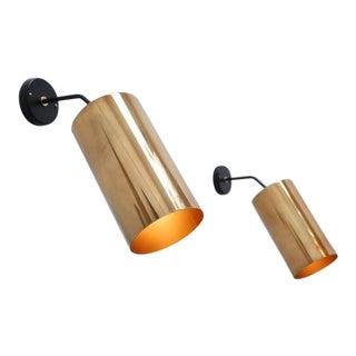Boris Jean Lacroix Large Cylinder Sconces