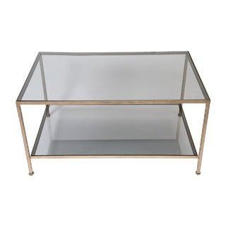 Iron And Smokey Glass Cocktail Table